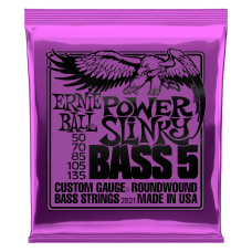 Ernie Ball 5-String Power Slinky Bass 50-135